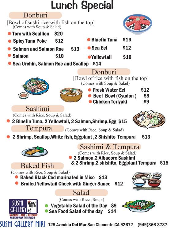 San Shi Go Sushi Menu Laguna Beach Ca